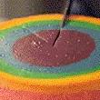彩虹***蛋糕