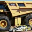 比赛洛斯 495HR型大形电铲自重1412吨 斗容60立方 喜欢大型工程设备的可以一下