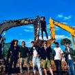 挖机 挖机表演 挖掘机 特技表演